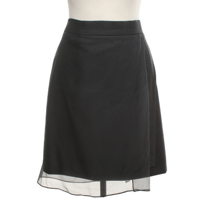 Brunello Cucinelli skirt with chiffon trim