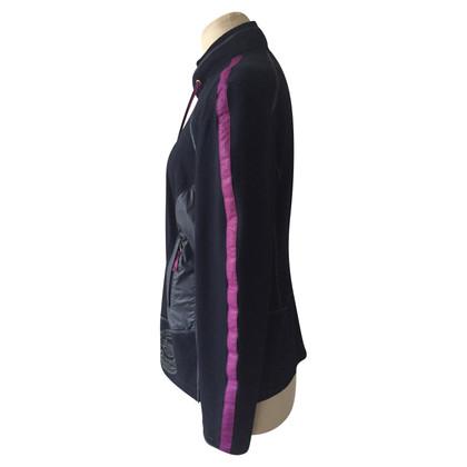 Basler Veste en noir / violet