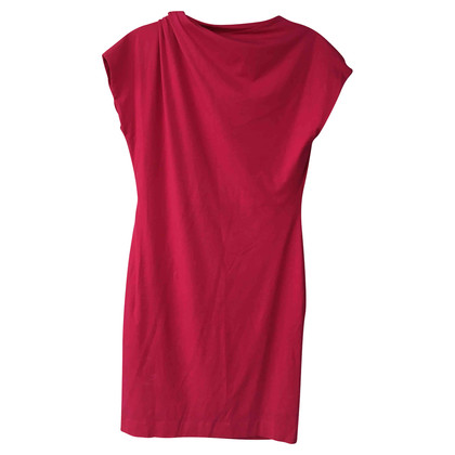 Hugo Boss Roze jurk met ruched detail
