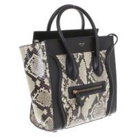 "Céline Cuir Python ""Micro Luggage Bag"""