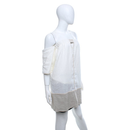 ViX Paula Hermanny Off-shoulder jurk in beige / natuur