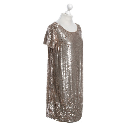 Twin-Set Simona Barbieri Gold color sequined dress
