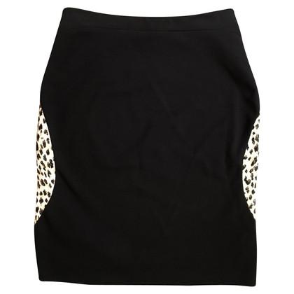 Diane von Furstenberg gonna in jersey con stampa leopardo