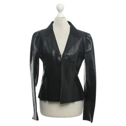 Chanel Leather blazer in black