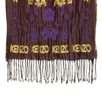 Kenzo Wool scarf with logo