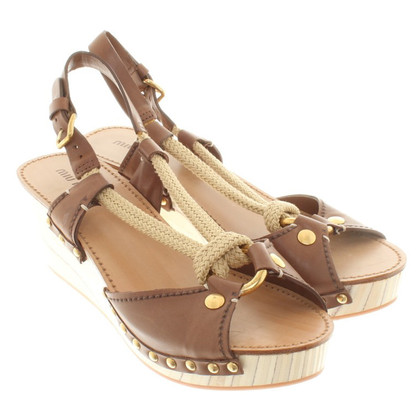 Miu Miu Wedges in a maritime look