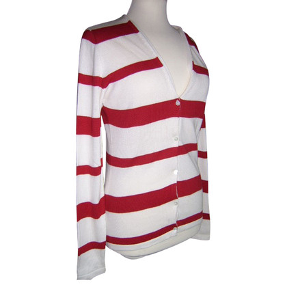 Allude Cardigan in red/white