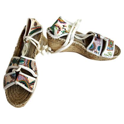 Christian Lacroix Doek-up-sandalen