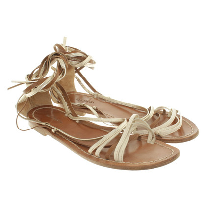 Max & Co Sandalen in Gold/Braun