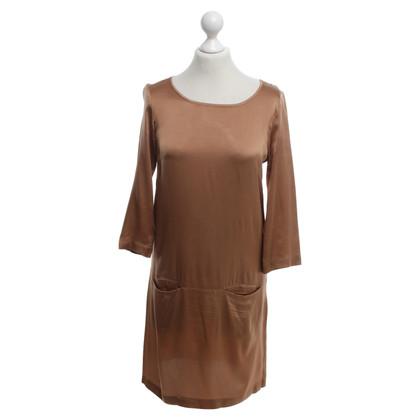 Autres marques Tout C`est - robe de soie cuivrés
