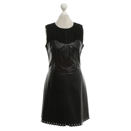 Alexander McQueen Leather dress in black