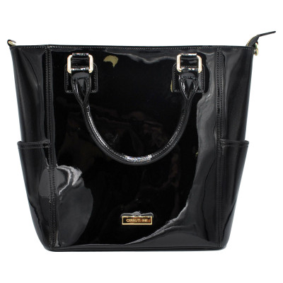 3c6b42760d6ec Cerruti 1881 Handtasche aus Lackleder in Schwarz