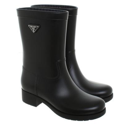 Prada Rubber boots in black