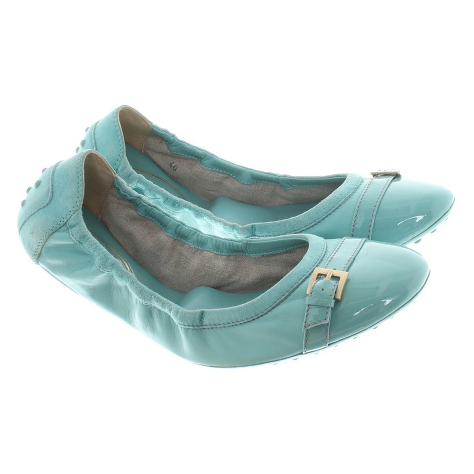 Tod's Ballerinas in turquoise