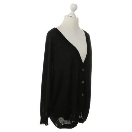 Wood Wood Strick-Cardigan in Schwarz