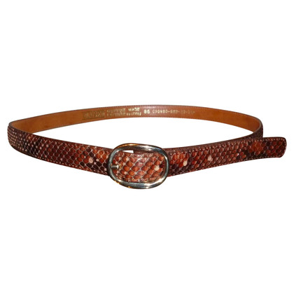 Closed Printed Python leather belt