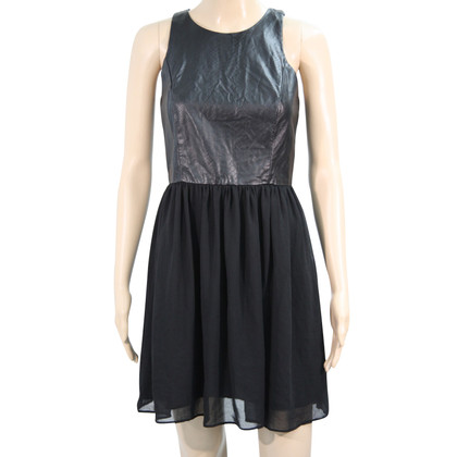 Armani Dress with leather look