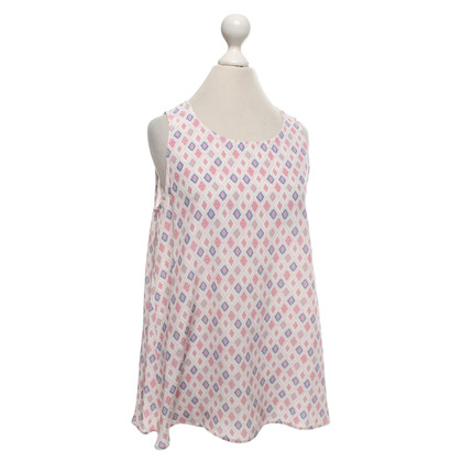 Hemisphere Silk top with pattern print