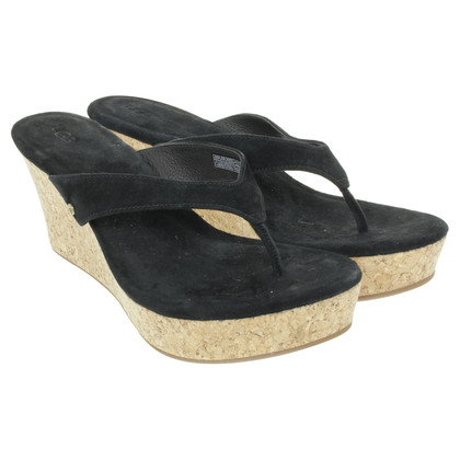 Ugg Wedge-Dianetten aus Wildleder