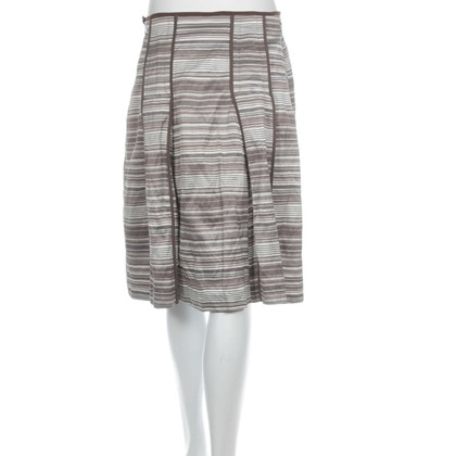 René Lezard Striped A-line skirt