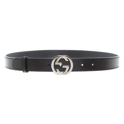 Gucci Ledergürtel in Schwarz