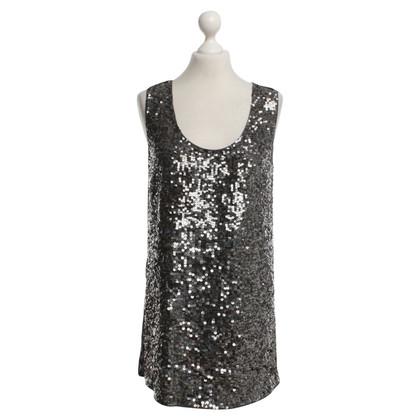 Pinko Vestito di paillette in grigio / nero