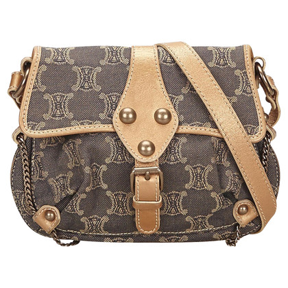 Céline Celine Macadam Denim Shoulder Bag