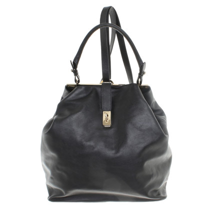 Schumacher Leather backpack in black