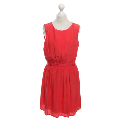 Comptoir des Cotonniers Silk dress in red
