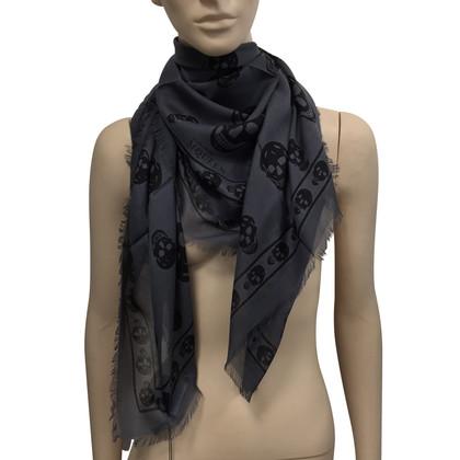 Alexander McQueen Grijs schedel sjaal