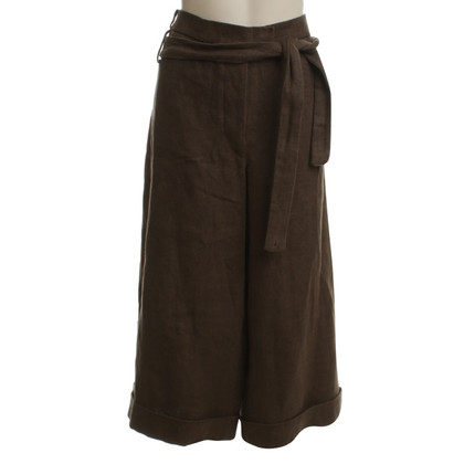 Chloé Wide linen trousers in khaki