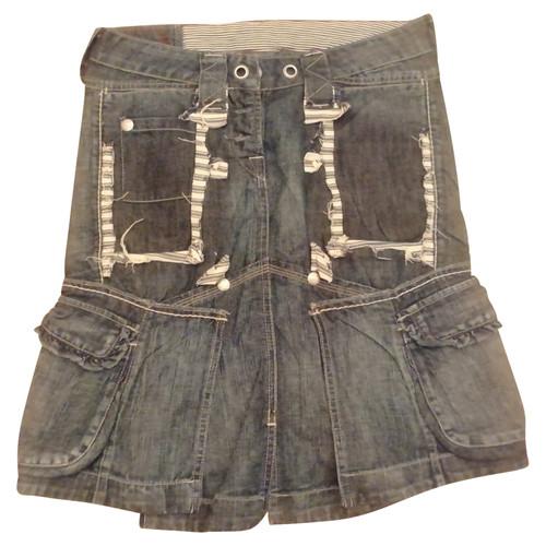e44e9a80 Marithé et Francois Girbaud Skirt Jeans fabric in Blue - Second Hand ...