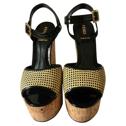 Fendi sleigh heels with pattern