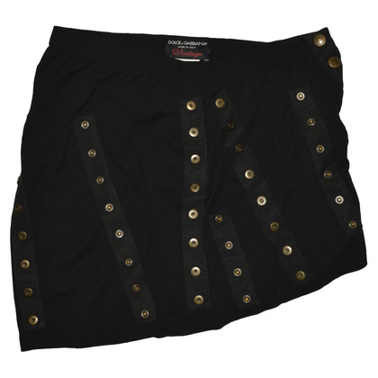 Dolce & Gabbana Black Viscose Skirt