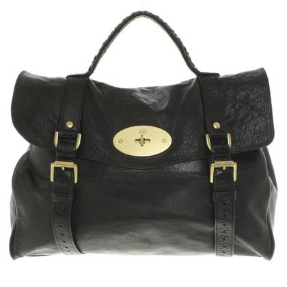 """Mulberry """"Alexa Bag surdimensionné"""" en noir"""