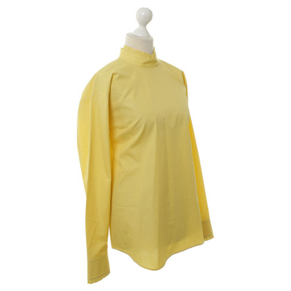Jil Sander Cotton blouse in yellow