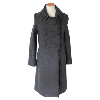 Prada cappotto di tweed con dettagli