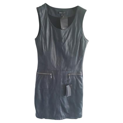 Arma Leather dress in dark blue