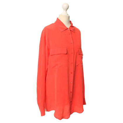 Equipment Blusa in seta in corallo rosso