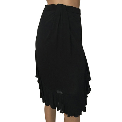 Red Valentino Black jersey ruches rok