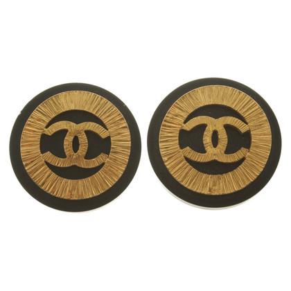 Chanel Orecchini a clip in bicolore