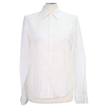 Ralph Lauren camicetta di lino in bianco