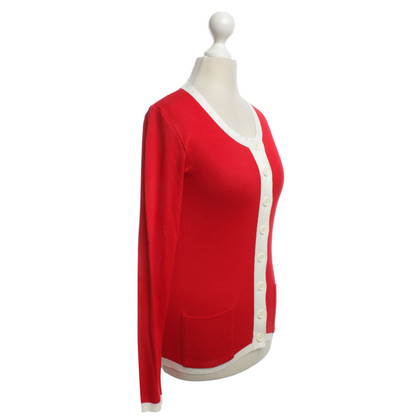 Sonia Rykiel Knit cardigan in red / white