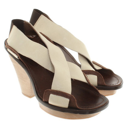 Marni Leather / wood sandals