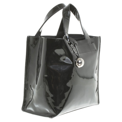 Furla Lakleer handtas in zwart