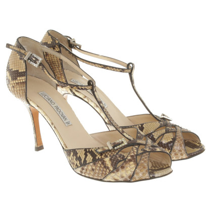 Luciano Padovan pumps Python Leather