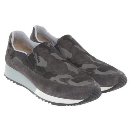 Prada Chaussures de sport avec un motif de camouflage