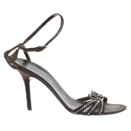Valentino Sandaletten mit Strasssteinen