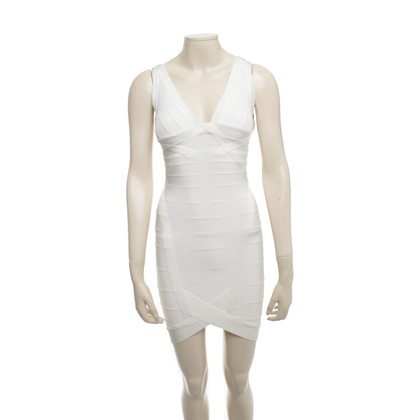 Herve Leger Mini dress in cream