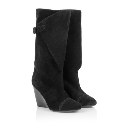 Balenciaga Suede boots in black
